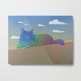 Chilling Cat Metal Print