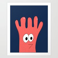 greg guillemin Art Prints featuring Monster Greg by Chelsea Herrick