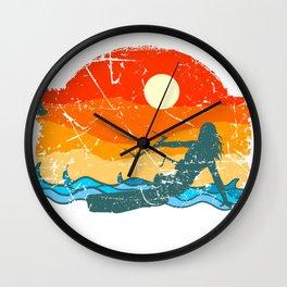 Kitesurfing Board Gift Beach Wave Kite surf wind Shirt Wall Clock