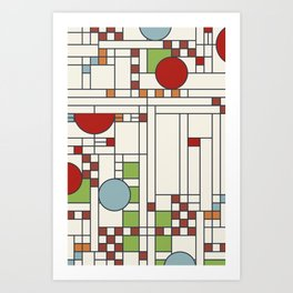 Frank lloyd wright pattern S02 Art Print