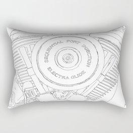 cycle detail, motor, drawing Rectangular Pillow