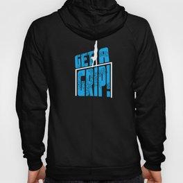 Gymnast Get a Grip Leotard Blue Unisex Shirt Hoody