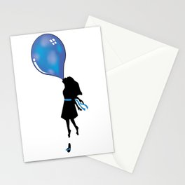 Bubble Gum Girl (Blue) Stationery Cards