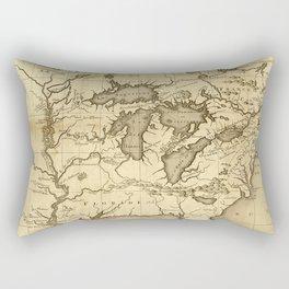 Great Lakes Map - 1737 Rectangular Pillow