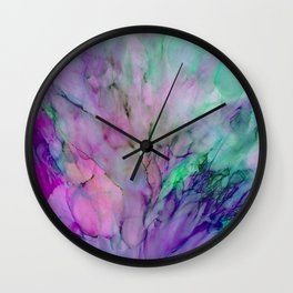 ALCOHOL INK Cvb Wall Clock