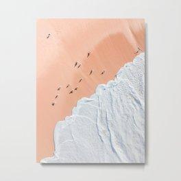 Birds and Ocean Metal Print