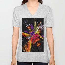 Cosmic fractal abstract. Unisex V-Neck