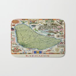 Vintage poster - Barbados Bath Mat