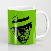 hunter s thompson Mugs featuring Outlaws of Literature (Hunter S. Thompson) by Silvio Ledbetter
