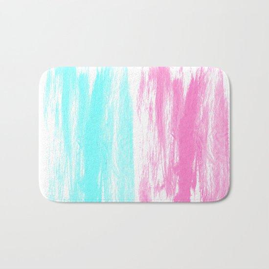 Summer Brushstrokes painting boho modern minimal abstract neon painting cool beach socal vibe Bath Mat