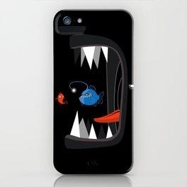 Fish eat fish iPhone Case