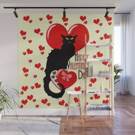 Le Chat Noir with Chocolate Candy Gift Wall Mural