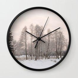 russian snowy trees Wall Clock