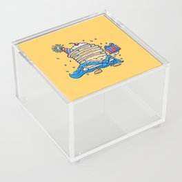 Captain Birthday Pancake Acrylic Box