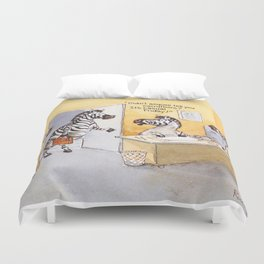 casual friday Duvet Cover