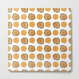 Marigolds Pattern Metal Print