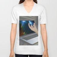 portal V-neck T-shirts featuring Portal by Cale potts Art
