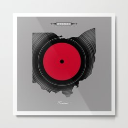 OHIO 33⅓ rpm LP Record Metal Print