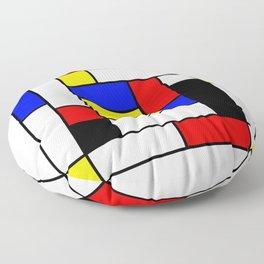 Mondrian Geometric Art 2 Floor Pillow