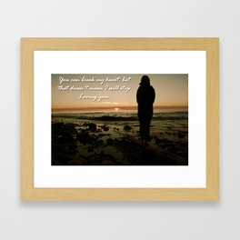 Definition of Love Framed Art Print