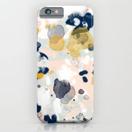 Esther - abstract minimal gold navy painting home decor minimalist hipster art iPhone Case