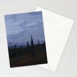 Denali Moon Rise Stationery Cards