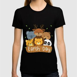 Earth Day For Kids Love Animals T-shirt