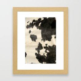 Black & White Cow Hide Framed Art Print