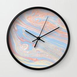Pastel marble Wall Clock