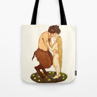 fairytale Tote Bags featuring Fairytale by deadpokerface