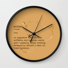 """""""Definition of a Writer"""" Print Wall Clock"""
