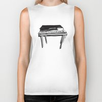 piano Biker Tanks featuring Piano by Melilarebelle
