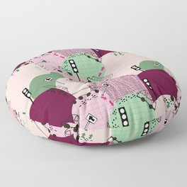 Four wheels purple #homedecor Floor Pillow