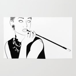 Breakfast At Tiffany's - Line Artwork Rug