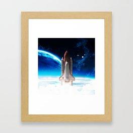 NASA Rocket Framed Art Print