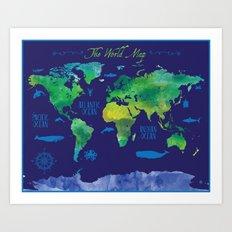 Nautical Map Art Print