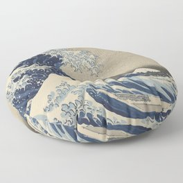 The Great Wave Japanese Art Floor Pillow