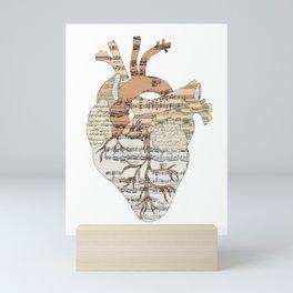Sound Of My Heart (on white) Mini Art Print