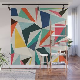 Collection of pointy summit Wall Mural