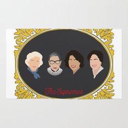 Supreme Court Justice Ruth Bader Ginsburg's in frame Rug