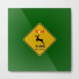 Noel X-ING (Rudolph Crossing) Metal Print