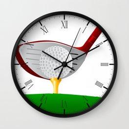 Teeing Off Golf Wall Clock