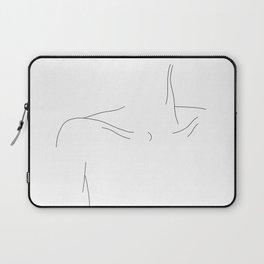 Woman's collar bones minimal illustration - Dale Laptop Sleeve