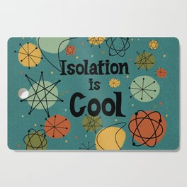 Isolation is Cool Mid-century Modern, Blue Cosmic Design Cutting Board