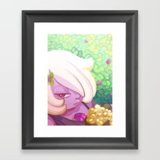 Chilling with Amethyst Framed Art Print