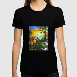 Adam and Eve in Garden of Eden T-shirt