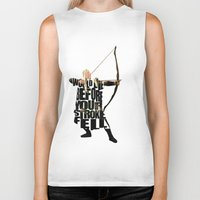 legolas Biker Tanks featuring Legolas - Orlando Bloom by Ayse Deniz