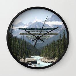 Jeremiah 29:11 Canadian Rockies Wall Clock