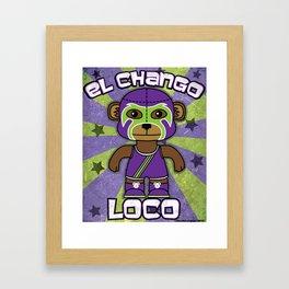 Luchamals- El Chango Loco Framed Art Print