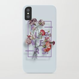Flowers Bloom Botanicals Vintage Illustration Poster #3 iPhone Case